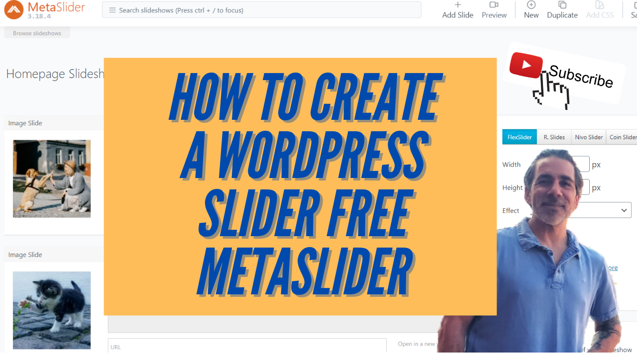 How to create a WordPress Slider free with MetaSlider